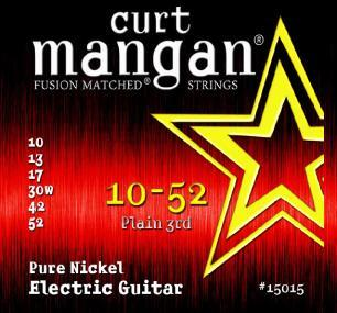 Curt Mangan Pure Nickel 10-52 Electric Guitar String Set