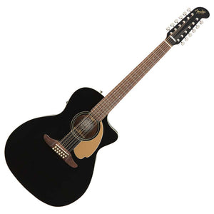 Fender Villager 12-String Acoustic Guitar, Jet Black