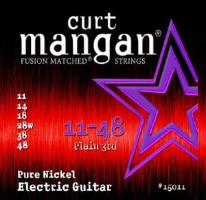 Curt Mangan 11-48 Electric Guitar Pure Nickel Set