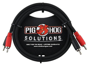 Pig Hog PD-RCA03 Dual RCA (Male) to Dual RCA (Male) Dual Cable, 3 feet