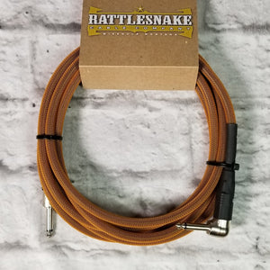 Rattlesnake Cables 10' Copper Straight to Right Angle