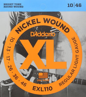 D'Addario EXL110  10-46  Electric Guitar String Set