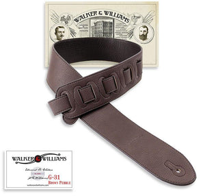 Walker & Williams G-31 Cocoa Brown Pebble Texture Strap with Glove Leather Back