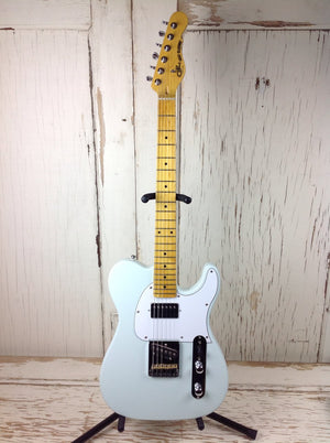 G&L Tribute Series ASAT Classic Bluesboy in Sonic Blue w/Padded Gig Bag