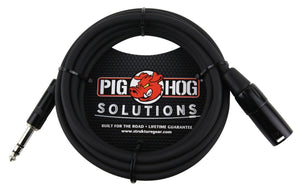 Pig Hog Cables - 10ft TRS(M)-XLR(M) Balanced Cable