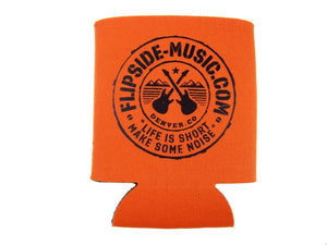 Flipside Music Gear Orange Logo Beverage Koozie