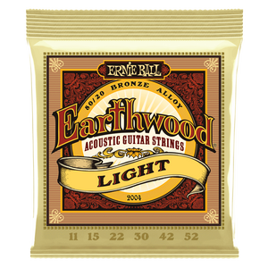 Ernie Ball Earthwood Light 80/20 Bronze Acoustic Guitar Strings 11-52
