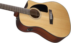 Fender CD60-CE-NAT Acoustic/Electric Steel-String Guitar w/Case
