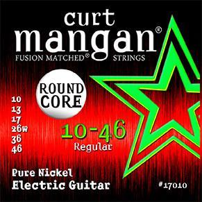 Curt Mangan 10-46 Round Core Pure Nickel Electric Guitar String Set