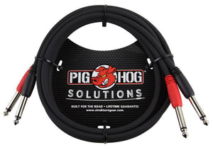 "Pig Hog Solutions - 10FT 1/4""-1/4"" Dual Cable"