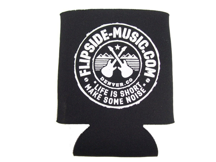 Flipside Music Gear Black Logo Beverage Koozie
