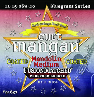 Curt Mangan Coated Medium Phosphor Bronze Mandolin String Set