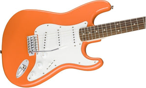 Squier Guitars Affinity Series Stratocaster 6-String Electric Guitar in Competition Orange