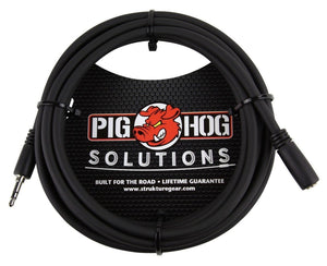 Pig Hog PHX35-10 3.5mm TRSF to 3.5mm TRSM Headphone Extension Cable, 10 feet