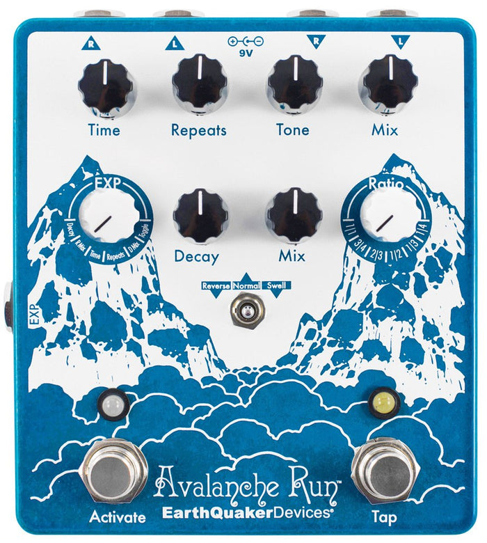 EarthQuaker Devices Avalanche Run Stereo Reverb & Delay Effects Pedal