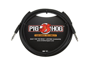 "Pig Hog 10ft  1/4"" TRS - 1/4"" TRS Cable"