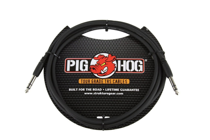 "Pig Hog Tour Grade 10ft  1/4"" TRS - 1/4"" TRS Cable"
