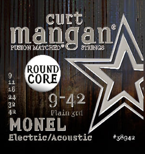 Curt Mangan Monel 9-42 Electric Guitar String Set