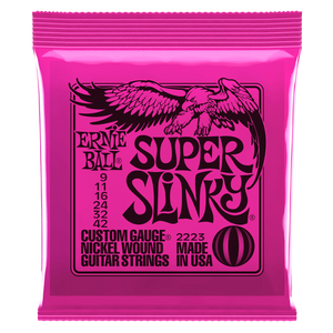 Ernie Ball Super Slinky Nickel Wound Electric Guitar Strings 9-42