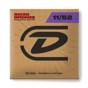 Dunlop DAB1152 80/20 Bronze Acoustic Guitar Strings 11-52
