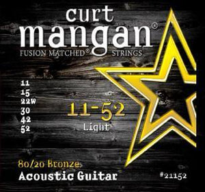 Curt Mangan 80/20 Bronze 11-52 Light Bronze Acoustic Guitar String Set