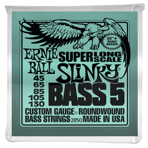 Ernie Ball Strings Bass 5 Slinky Super Long Scale Electric Bass Strings