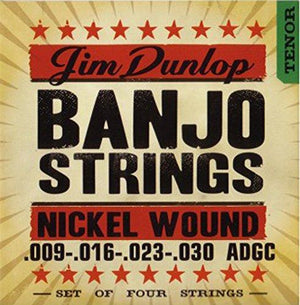 Dunlop 4 String Tenor Banjo String Set  .009–.030
