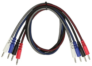 Pig Hog Patch 3.5mm Mono Patch Cable Pack - 24 Inch