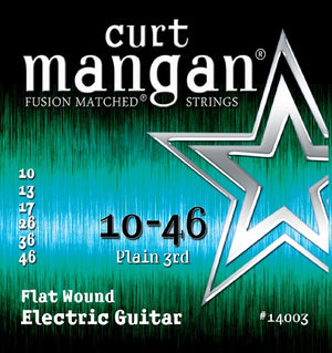 Curt Mangan Flatwound Electric Guitar String Set 10-46