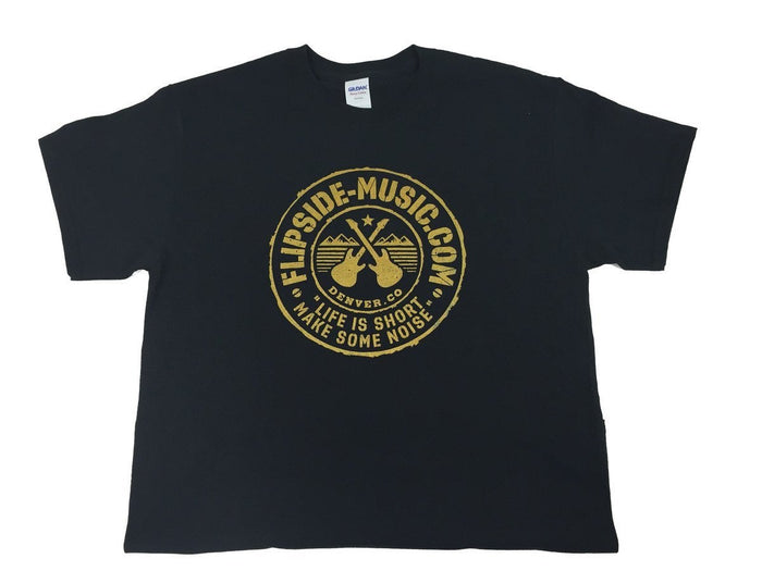 Flipside Music Tour Quality Logo T-Shirt Acapulco Gold/Black