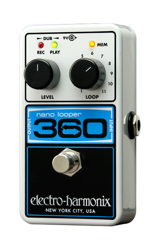 Electro Harmonix Nano Looper 360 Guitar Effects Pedal w/Power Supply