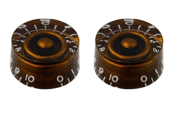 Allparts PK-0130-036 Vintage Style Speed Knobs Set of 2 -  Chocolate Brown