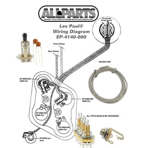 Allparts EP-4140-000 Gibson Les Paul Wiring Kit