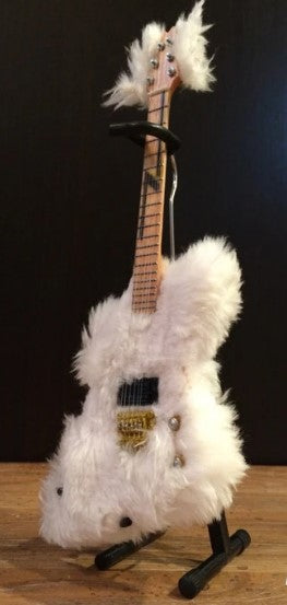 "AXE HEAVEN Billy Gibbons ""The Fur"" Miniature Guitar Bass Replica Collectible"