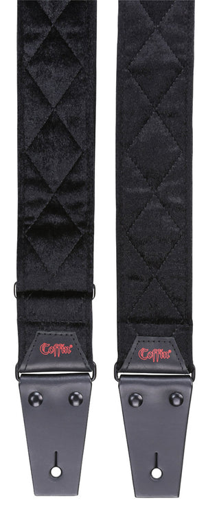 "Coffin Cases ""The Count""  Black Velvet Guitar Strap"