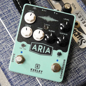 Keeley Aria Compressor Drive Dual Stomp Pedal