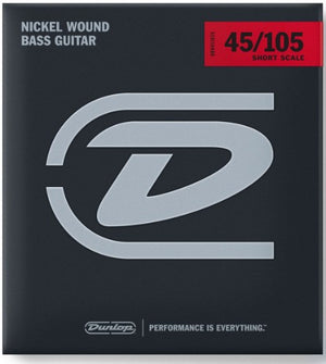 Dunlop Nickel Wound Bass String Set 45-105 Short Scale (M)