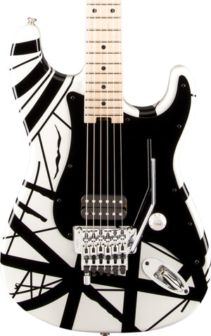 EVH Guitars Striped Series,  White with Black Stripes