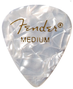 Fender 351 Shape Premium Pick Pack White Medium 12ct