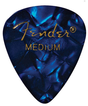 Fender 351 Shape Premium Picks Blue Moto, Medium (12)