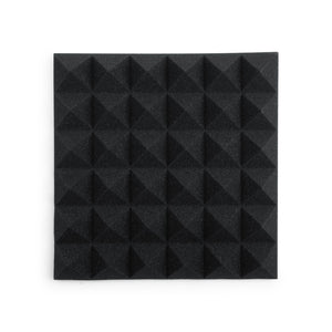 Gator Frameworks Acoustic Pyramid Panel Charcoal 8 Pack 12x12""