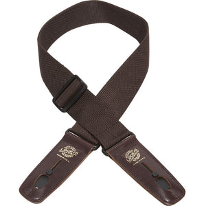 "Lock-It Straps - 2"" Poly Pro Series Guitar Strap - Brown"