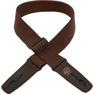 "Lock-It Straps - 2"" Cotton Series Guitar Strap - Brown"