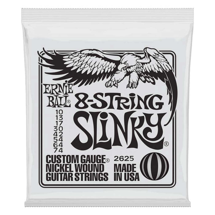Ernie Ball Slinky 8-String Nickel Wound Electric Guitar Strings,  10-74