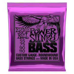 Ernie Ball Power Slinky Nickel Wound Bass Strings, 55-110