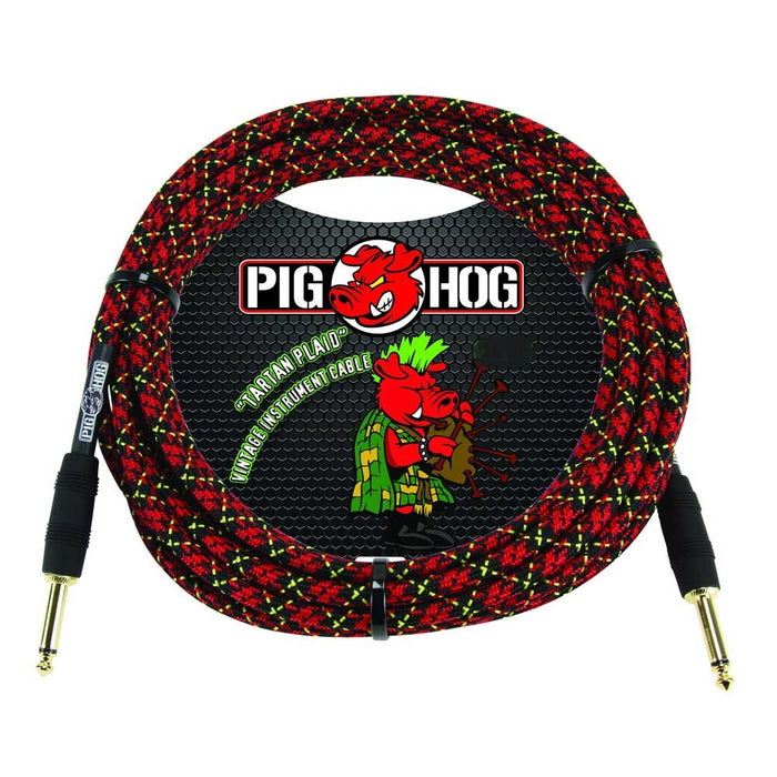 "Pig Hog 10ft ""Tartan Plaid"" Vintage Instrument Cable"