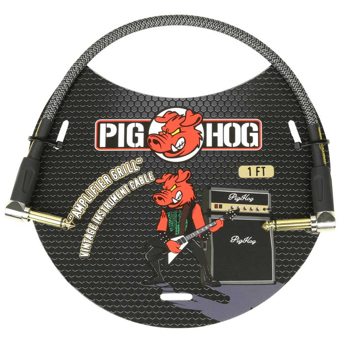 "Pig Hog 1ft Right Angle ""Amplifier Grill"" Vintage Instrument Cable"