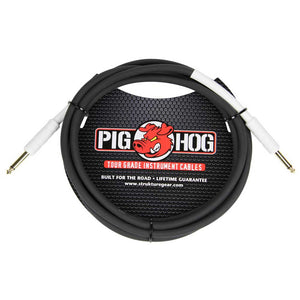 "Pig Hog 10ft 1/4"" - 1/4"" 8MM Tour Grade Instrument Cable"