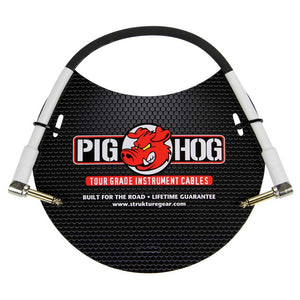 "Pig Hog 1ft 1/4"" Right Angle - 1/4"" Right Angle 8mm Tour Grade Instrument Cable"