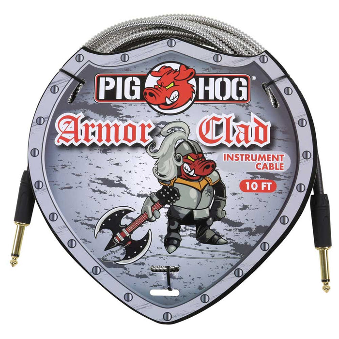 "Pig Hog 10ft ""Armor Clad"" Instrument Cable"